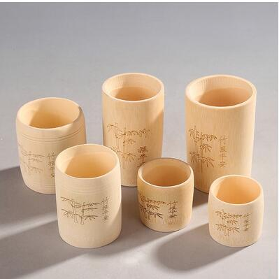 Bamboo cup natural bamboo tea cup water cup without paint carbonized bamboo cup bamboo wine set|Tea Cozies| |  - title=