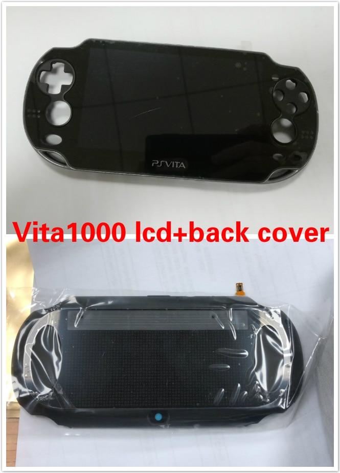 1set 2pcs Black Color OLED LCD Screen Display Back Cover for PSVita PS Vita PSV 1000