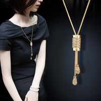 Sweater chain long garments accessories pendant necklace fashion female Korean all match summer air accessories