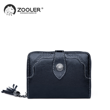 2019 HOT genuine leather wallet ZOOLER Cow Leather Wallet woman leather clutch bag lady purses high quality wallets#Wp269