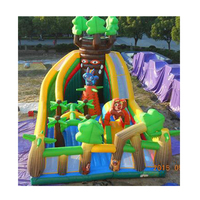 Top quality giant inflatable slide inflatable land slide for sale