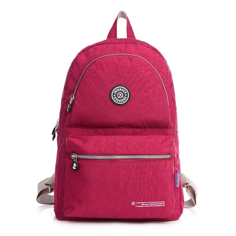 Fashion Women Waterproof Nylon Backpack Women Bag Preppy Style Backpacks for Teenage Girls School Bags Zipper Shoulder Back Pack