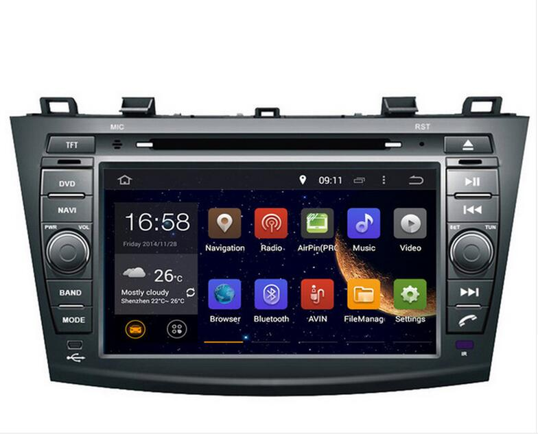 2019 8inch 4G LTE Android 8.1 IPS quad core car multimedia DVD player <font><b>Radio</b></font> GPS FOR <font><b>MAZDA</b></font> <font><b>3</b></font> <font><b>2009</b></font> 2010 2011 2012 GPS DVD NAVI image