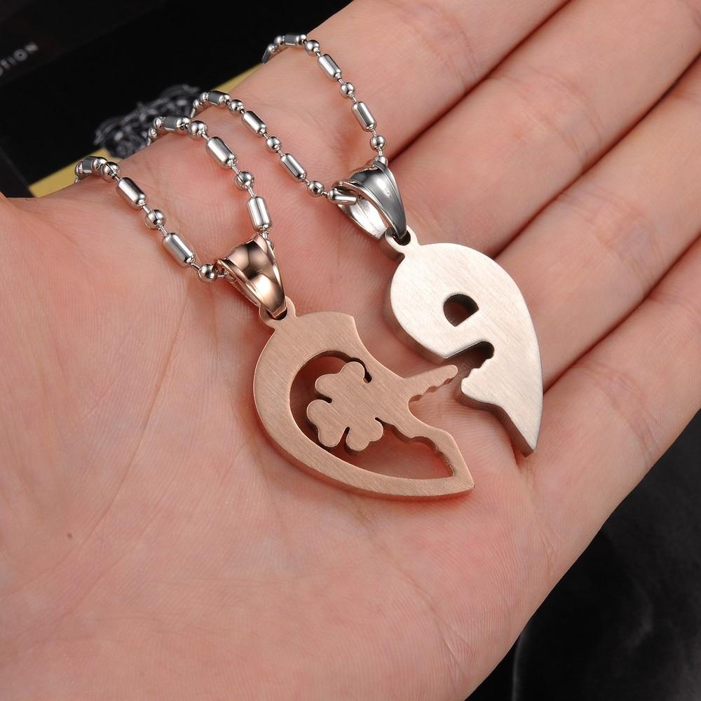 Online Shop Christmas Gift Couple Necklace Titanium Necklaces ...