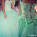2017 Turquoise Quinceanera dress 15 years ball gowns blue sweet 16 dresses cheap tulle custom made vestidos with pearls beaded