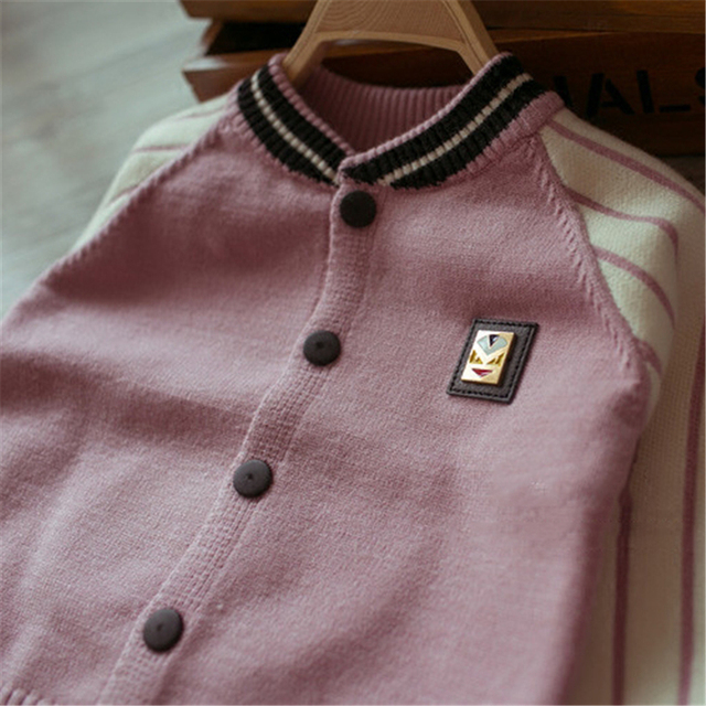 Boys Sweater Jackets For Kids Pulls Pour Filles Outewear Cardigan For Teen Girl 2016 Autumn New Kids Sweater Top Coat 60J088