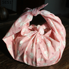 Japanese style handkerchief kerchief furoshiki cotton 100% / printed 48cm (+-1cm) Hundreds of random colors Many uses