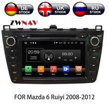 Android 9 32 + 4 GB Автомобильный dvd-плеер gps навигация 2 DIN радио для Mazda 6 Atenza 2008-2012 Satnav мультимедийная Лента Радио