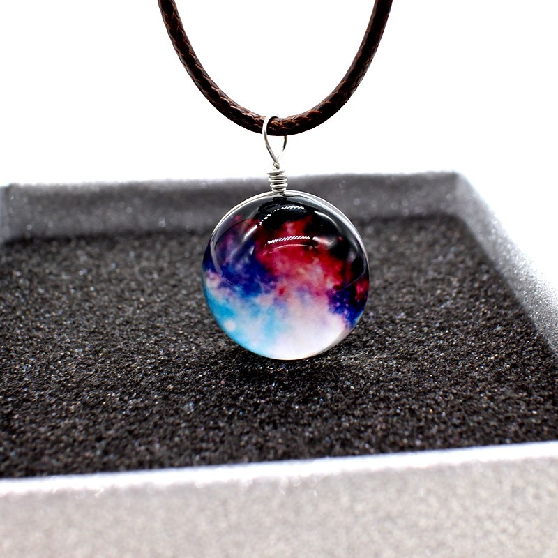 HTB1DDjWNVXXXXaLXFXXq6xXFXXXy - New Stars Ball Glass Collares Duplex Planet Crystal Galaxy Pattern