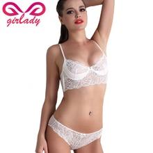 GIRLADY Sexy Push Up Women Bra Set Ultrathin Lace Adjustable Lingerie Bra Set Female Brand Luxurious Bra Brief Set & Intimates