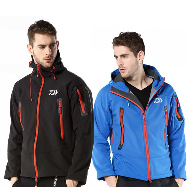2019 New Outdoor Sport Men Autumn Winter Waterproof Fishing Jacket Fishing Suit Warm Anti-cold Velvet Hiking Climbing Clothing