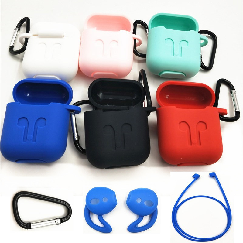все цены на HEONYIRRY Protective Silicone Cover Case for AirPods Case Earpods Case for Apple Headphone for Airpod Case Charger Accessories онлайн