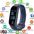 Sport Smart armband Blutdruck Herz Rate Monitor Smart armband uhr Männer frauen LED Farbe Touch screen Fitness tracker-in Intelligente Armbänder aus Verbraucherelektronik bei