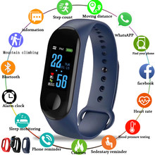 Sport Smart bracelet Blood Pressure Heart Rate Monitor Smart wristband watch Men women LED Color Touch screen Fitness tracker(China)