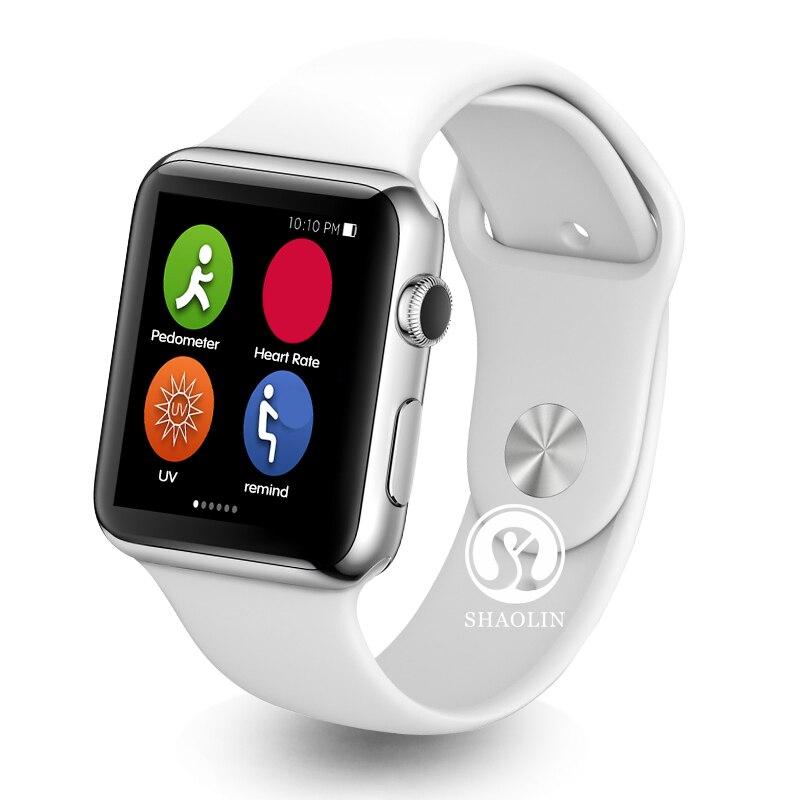 imágenes para Shaolin bluetooth smart watch horas reloj para ios apple iphone para android samsung huawei xiaomi lenovo smartwatch
