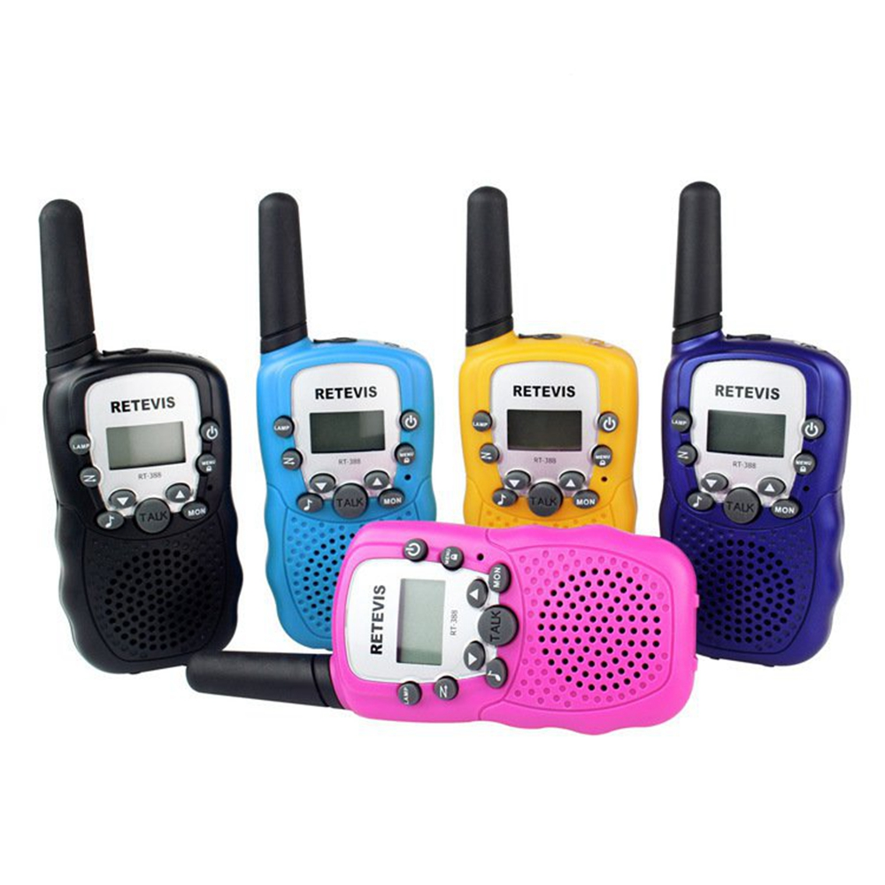 2 Pcs Rt-388 Walkie Talkie Toys For Children 0.5w 22ch Two Way Kids Radio Boys And Girls Brithday Xmas Gift