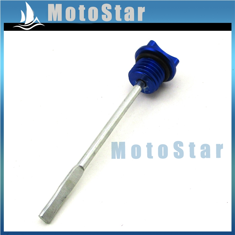 Blue CNC Engine Oil Dipstick 50cc 90cc 110cc 125cc 150cc 160cc Pit Dirt Bike SSR