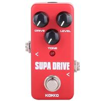 KOKKO FOD5 Portable Overdrive Electric Guitar Red Square Effect Pedal Guitar Accessories DC adapter