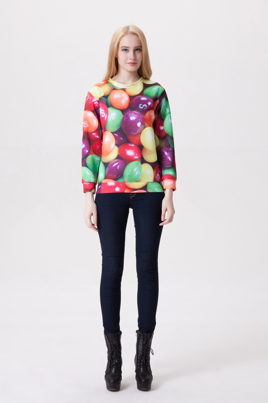 2018 nuevos colores del caramelo ropa pullovers 3D colorido caramelo  imprimir sudadera sexy Girl moda 3D hoodies YY13 tamaño libre 733135ffa767