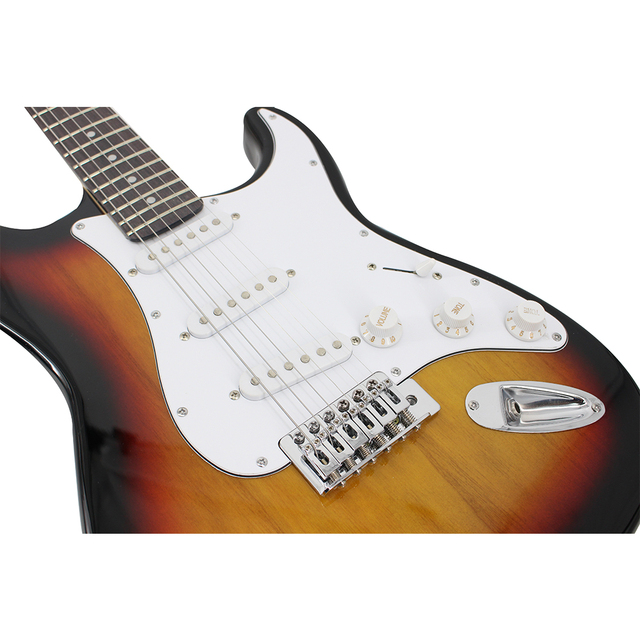 38 Inch High Quality Sunburst Electric Guitar 8