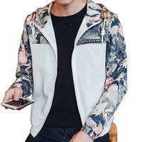 Floral Bomber Jacket Men Hip Hop Slim Fit Flowers Pilot Bomber Jacket Coat Men S Hooded