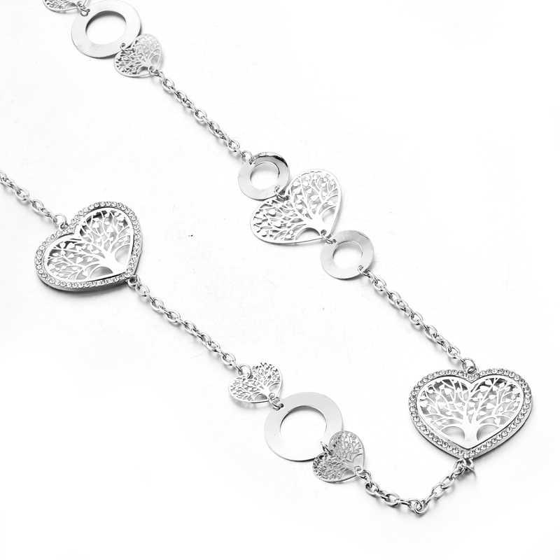 กำไลข้อมือที่กำหนดเองหัวใจสร้อยคอจี้สำหรับผู้หญิง Charm เครื่องประดับ Bohemian สร้อยคอ SNE180039
