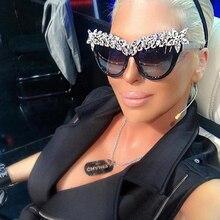 Winla New Arrival Crystal Diamond Cat Eye Sunglasses Women Luxury Brand
