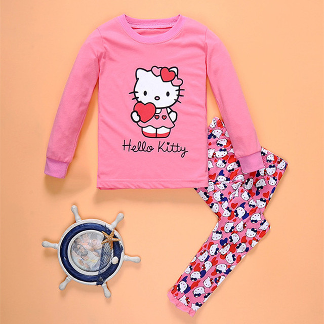 f99a11b8c LYTLM Hello Kitty Clothes for Girls Fashion 2PCS Girls Clothing Sets 2018  100% Cotton Kids Suits for Girls Autumn Spring Sports