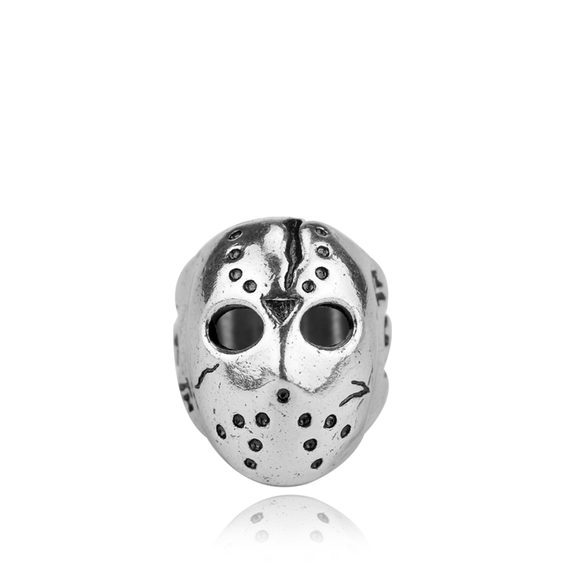 Black Friday Hockey Jason Mask SKull Ring Halloween Biker Finger Rings Personalized Men Maxi Punk Jewelry Accessories Gift