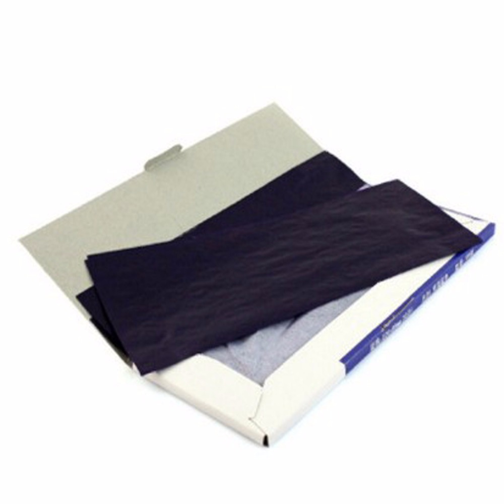 1 Pack Thin-Type Long-Shelf-Life 38K Double-Side Blue Carbon Paper for School & Office & Writing