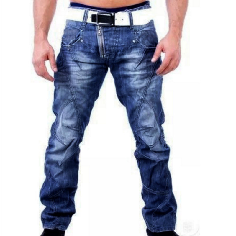 2019 New Fashion Foreign Trade Man Jeans Man High Quality Cowboy Male Denim Jeans Designer Trousers Casual Skinny Straight Pants