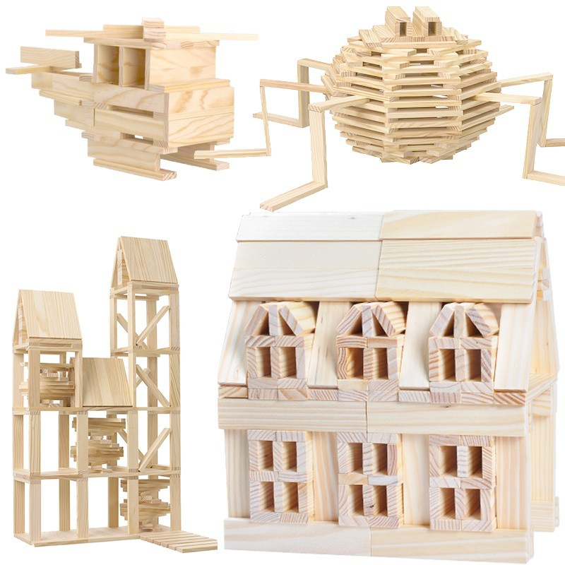 100pcs  Free Shipping!!Wooden Toys  City Blocks Child Building Blocks Educational Toys Baby Gift Popular Games 62pcs colored wooden building blocks city traffic scene blocks kids educational toys child diy toys jm19