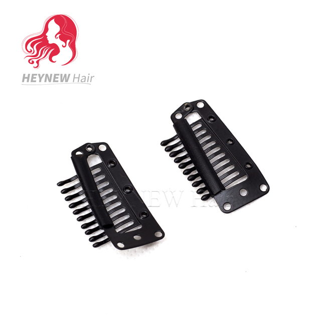 38mm Snap Clip For Hair Extensions Wig Clips Hairpins Black Clips