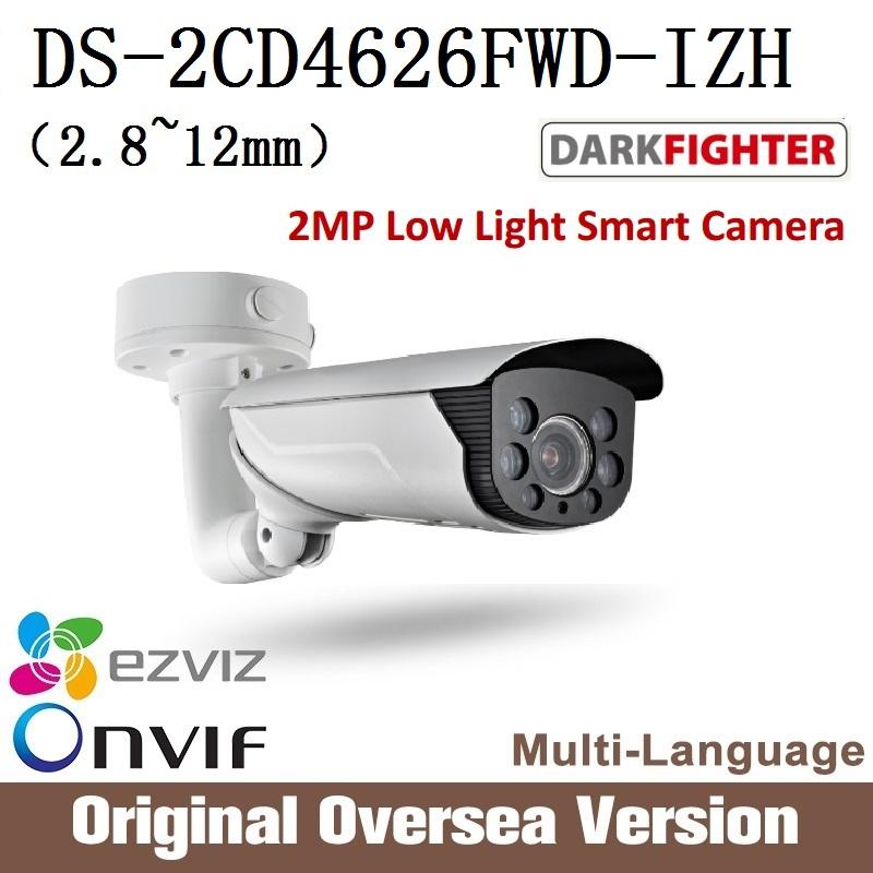 HIKVISION  Ip 2MP camera DS-2CD4626FWD-IZH 2.8-12mm IR 50m 1080p Poe Ip66 English Version Onvif RJ45 Ultra-low light darkfghter hikvision ds 2de7230iw ae english version 2mp 1080p ip camera ptz camera 4 3mm 129mm 30x zoom support ezviz ip66 outdoor poe