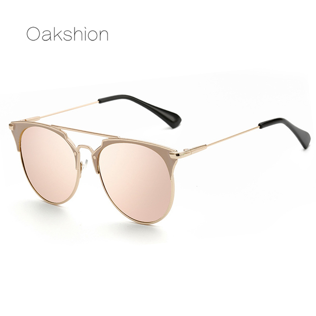 Gafas de sol de oro rosa para mujer lentes de espejo gafas redondas de lujo  para e43320d059f6