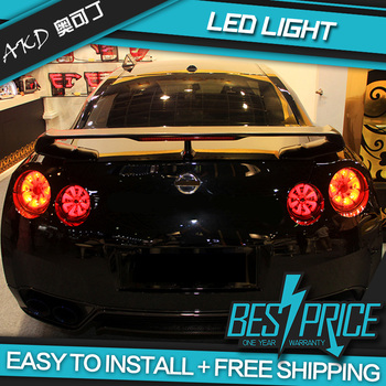 AKD tuning cars Tail lights For Nissan GT-R GTR Taillights LED DRL Running lights Fog lights angel eyes Rear parking lights