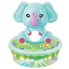 Электрическая игрушка-проектор, Электрический проекционный слон, украшение, подарок для детей, милый маленький Забавный