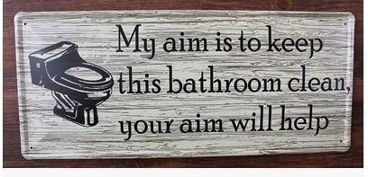 20x46CM Keep bathroom clean Vintage Home Decor Tin Sign ... on Home Wall Decor Signs id=43517