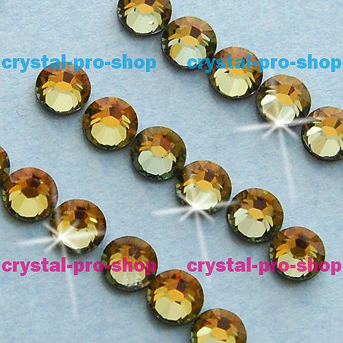 GENUINE Swarovski Elements ss20 ( 720 pieces ) Tabac ( TAB ) 20ss Iron on Flatback Crystal Beads Hotfix Rhinestones