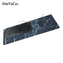 Maiyaca Drak Blue Marble Stone Wallpaper Skid Sturdy Trend Laptop and Laptop computer Giant Sport Locked Edge Mouse Pad