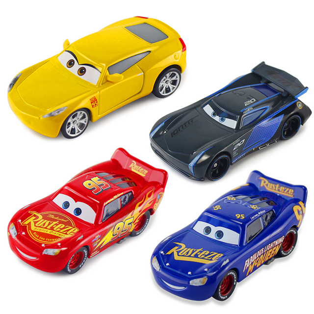 Disney Pixar Cars 2 3 New Fabulous Lightning McQueen Jackson Storm Cruz Ramirea 155 Diecast Metal Alloy Toys Kids Christmas Toy