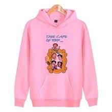 2019 Hoodies Pullover Hoody Kawaii Japanese Sweatshirt Women Woman Friends Tv Korean Female Harajuku Streetwear