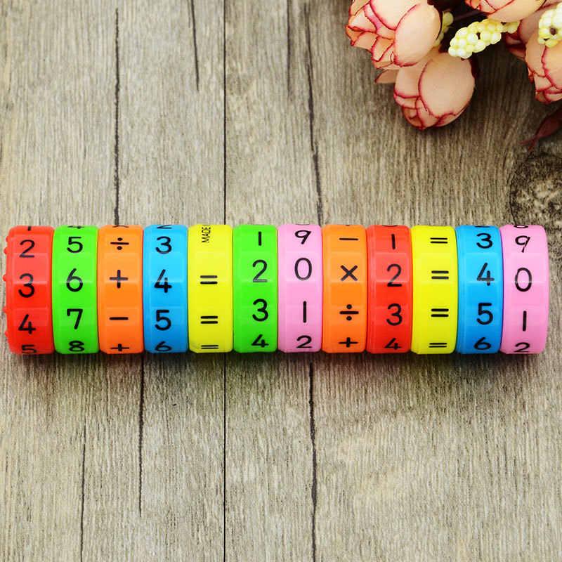 Della novità di Magic Assi Magnetico Di Puzzle Matematica Giocattoli di Plastica Digitale Aritmetica di Intelligenza Learning Educational Giocattolo per il Regalo Dei Bambini