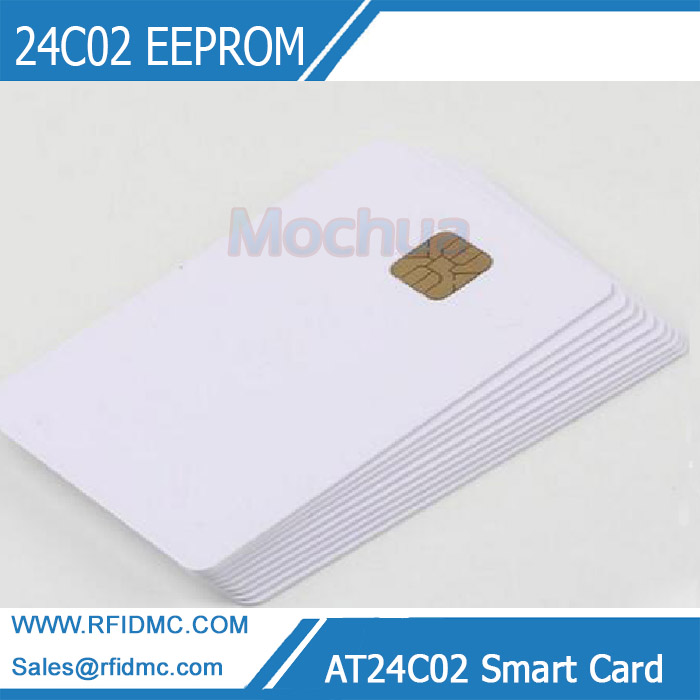 AT24C02 Smart Card Secure Memory 24C02 EEPROM Contact Chip IC Card ISO7816