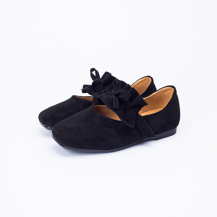MAGGIE'S WALKER Girls Shoes Slip on Flats Bow Tie Shoes Kids Girls Genuine Leather Princess Shoes Brand Designer for Girls