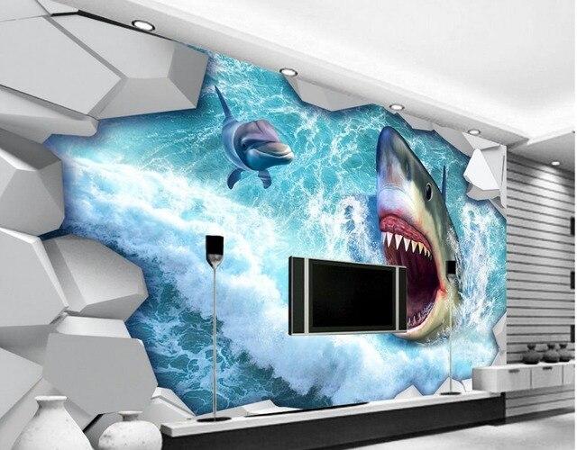 3d Wallpaper For Living Room Wall Personalizado Tubar 227 O 3d Foto Papel De Parede Murais Papel