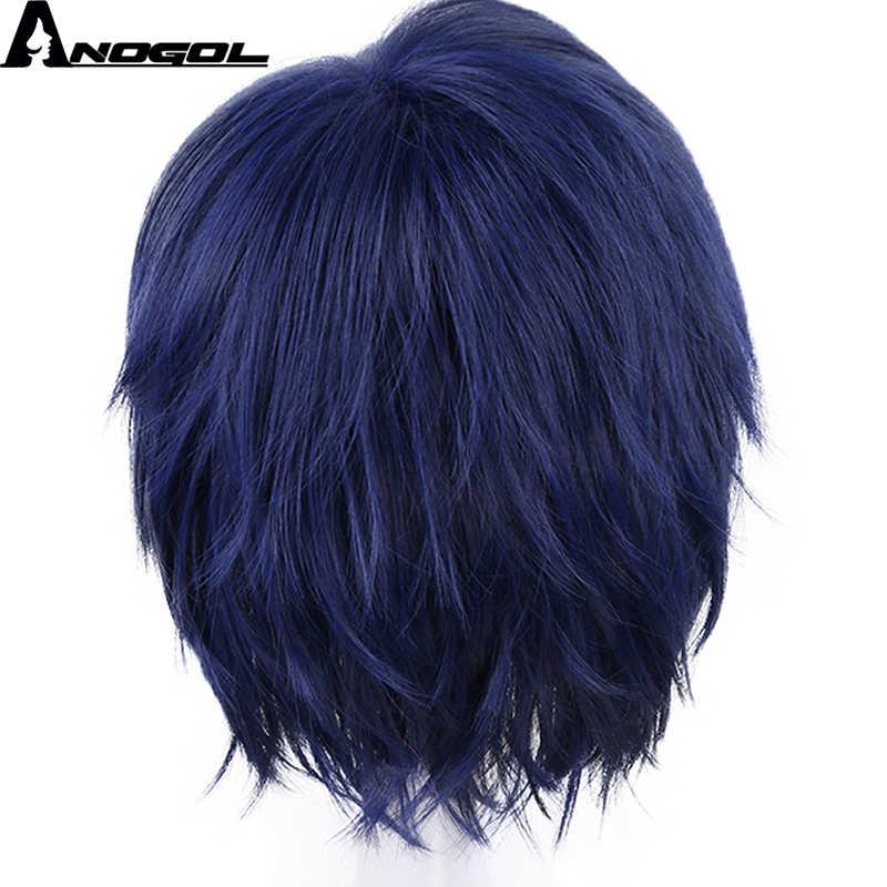 Anogol niebieska akademia bohaterów krótkie proste Tenya Iida krótkie proste włosy peruki peruka syntetyczna cosplay na kostium część Halloween