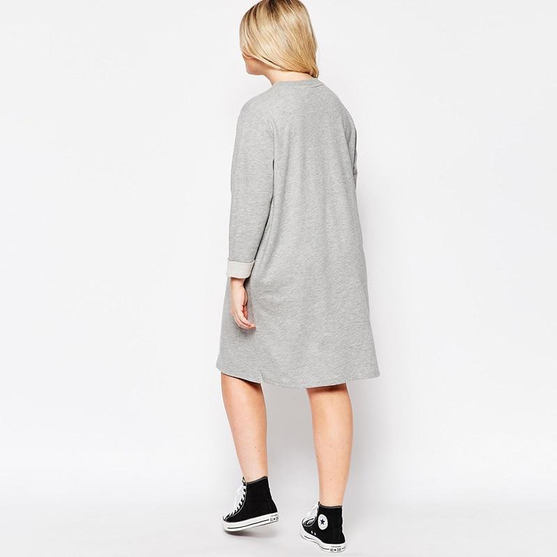 b59ee302962 2016 Brand Winter Autumn Oversize Sweat Dress Long Sleeve Loose Midi Women  Tunic Dresses Plus Size Vestido 6XL 7XL High Quality-in Dresses from Women s  ...