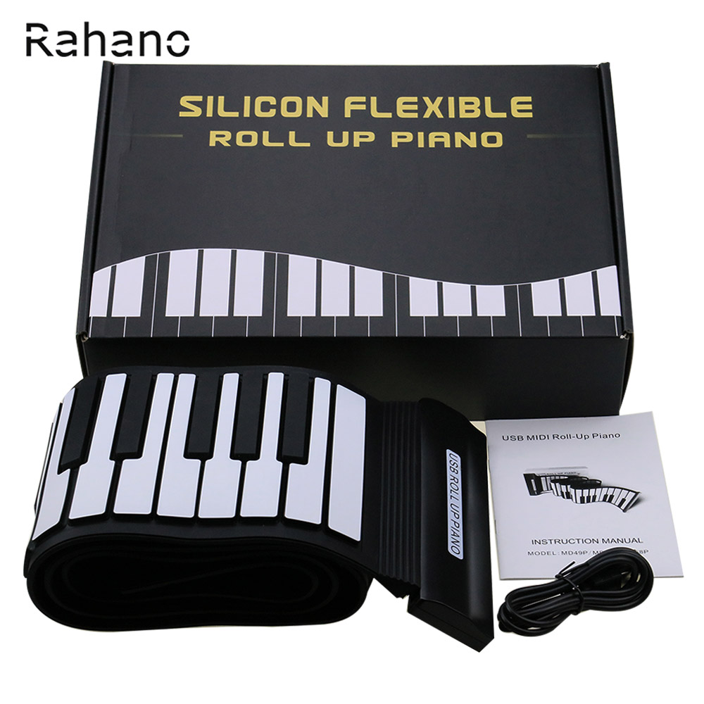 New Arrival Silikon Flexibel Tangentbord MIDI Roll Up Electronic - Musikinstrument