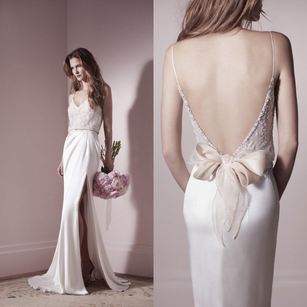 88+ Backless Silk Wedding Dresses - Hot Sale 2017 Sexy V Neck ...